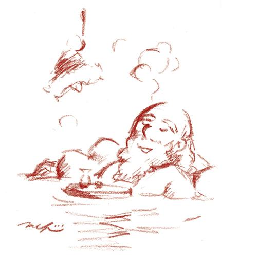 温泉のサンタ