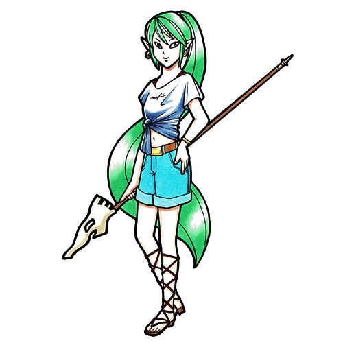 緑髪の少女
