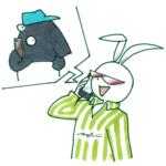 ウサギとバク