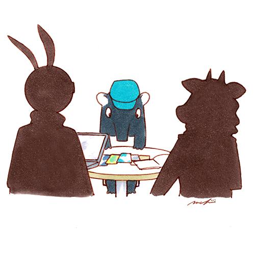 ウサギ、カモシカ、バク