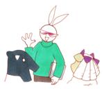 バクとヒツジとウサギ