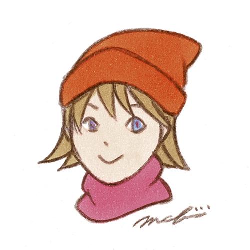 ニット帽 少女