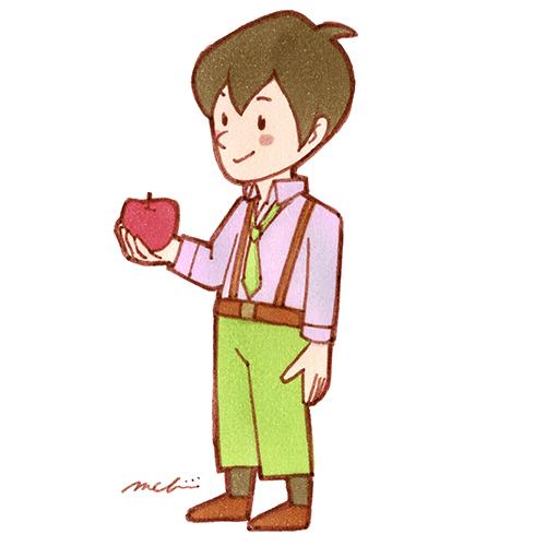 男性 リンゴ