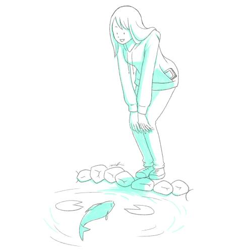 池 鯉 女性