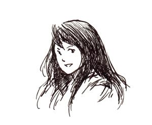 万年筆_イラスト_少女