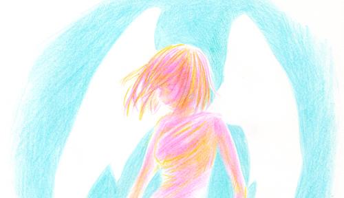 天使_色鉛筆