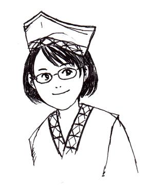 藤井美智子_自画像_練習_ペン