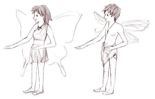 fly_少年と少女_蝶々_トンボ