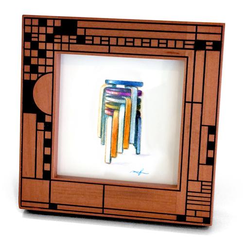 アアルトチェア60_スツール_フレーム_色鉛筆