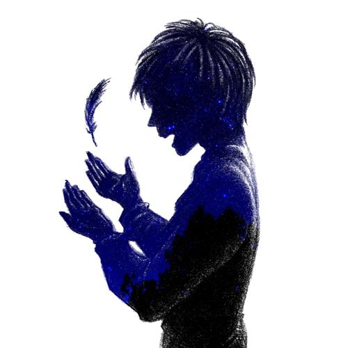 羽根と少年02_星空写真
