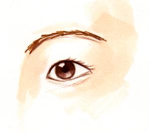 一重の目_イラスト