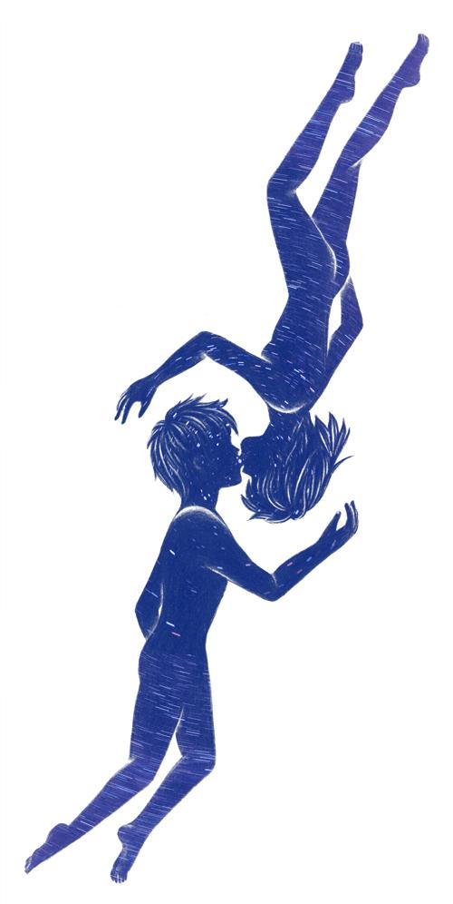 キス_少年と少女_写真_北の星空