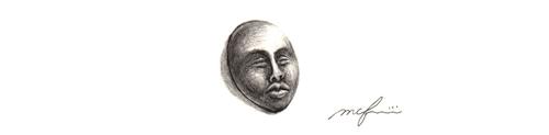 エミュー国の王子_トルコ石_鉛筆デッサン_スケッチ