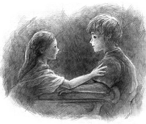 ロミオとジュリエット_鉛筆スケッチイラスト