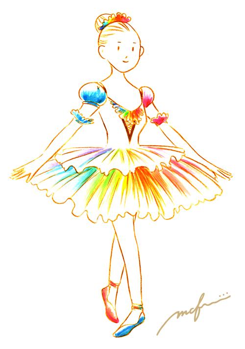 くるみ割り人形_金平糖の精の踊り_衣装案イラスト