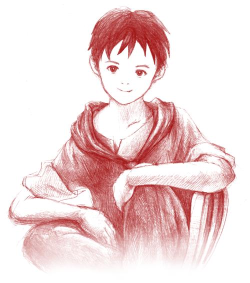 少年_鉛筆イラスト