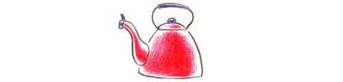 やかん_色鉛筆イラスト