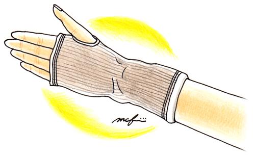 遠赤外線サポーター_ペン色鉛筆イラスト