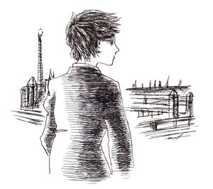 二十世紀のパリ_ペンイラスト