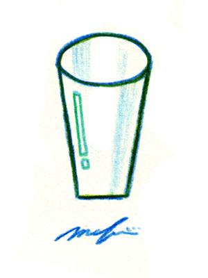 ガラスのコップ02_色鉛筆イラスト