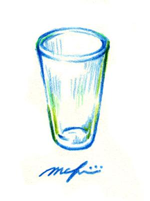 ガラスのコップ03_色鉛筆イラスト