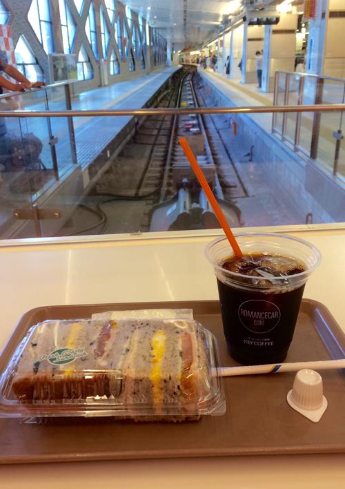 ロマンスカー_新宿駅ホーム線路