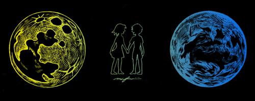 いつか見た夢_少年と少女_月と地球