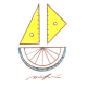 定規と分度器のヨット