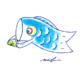 柏餅を食べる鯉のぼり